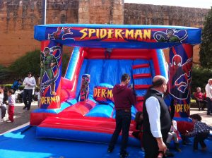hinchable spiderman en huelva