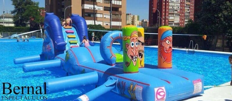 Hinchables acuáticos en Huelva