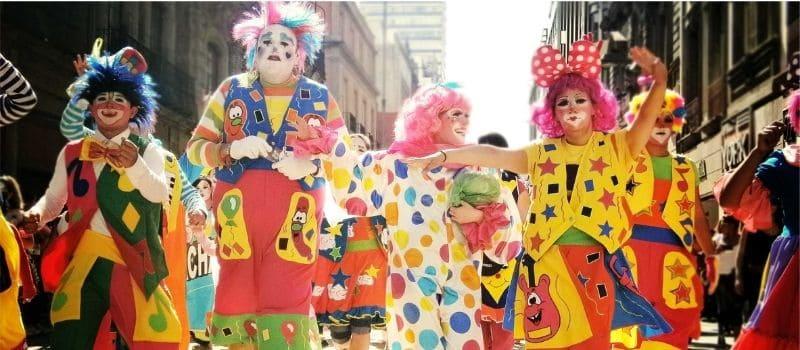 Espectáculo de payasos en Huelva
